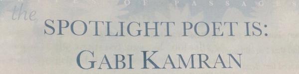 Gabi Kamran: Spotlight Poet