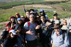 Reuven's Core Class on our first tiyul (trip) to Tel Gezer.