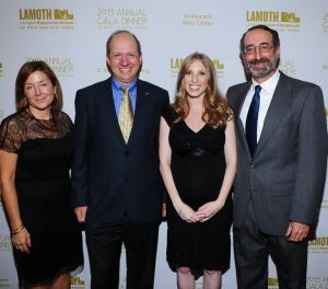Jasper along with the two other honorees, and LAMOTH Executive Director Samara Hutman