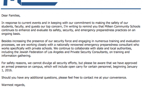 Administration Announces Increased Security Measures in Response to Attacks