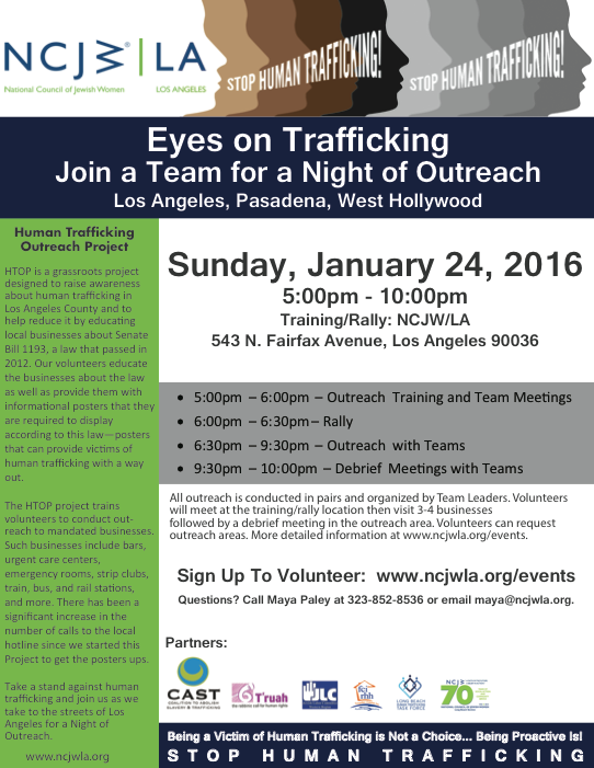 Eyes on Trafficking: Outreach Opportunity