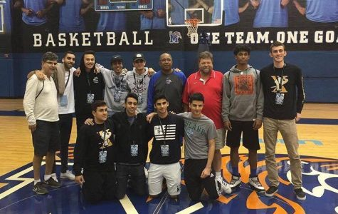 Milken Varsity Basketball team with Head Coach of the University of Memphis Tigers, Tubby Smith.