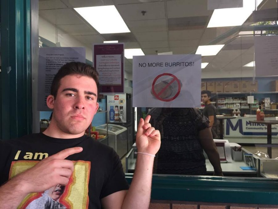 Ari Swerdlow '17 outraged by the end of Milken Mart Breakfast Burritos.