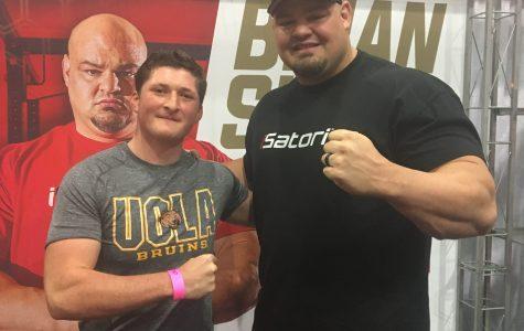 Jordan Kalman with Brian Shaw, The World's Strongest Man