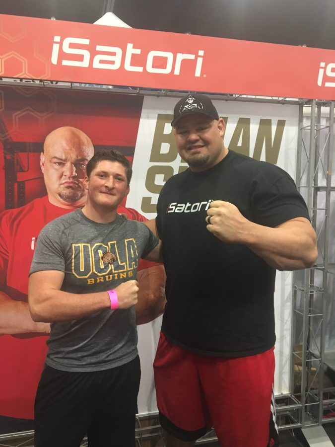 Jordan Kalman with Brian Shaw, The World's Strongest Man