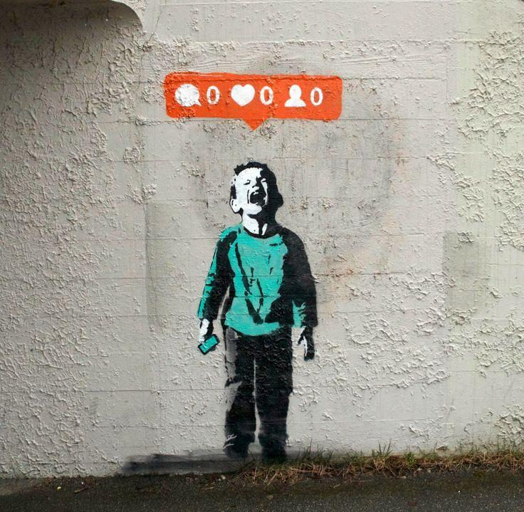 Nobody+Likes+Me+is+a+piece+of+stencil+artwork+by+anonymous+graffiti+street+artist+iHeart%2C+2014.