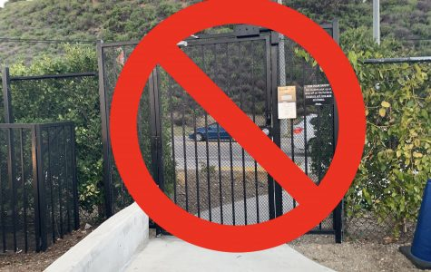 Pedestrian gate permanently closed
