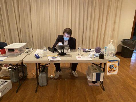 Poll worker Jake Tweed-Field