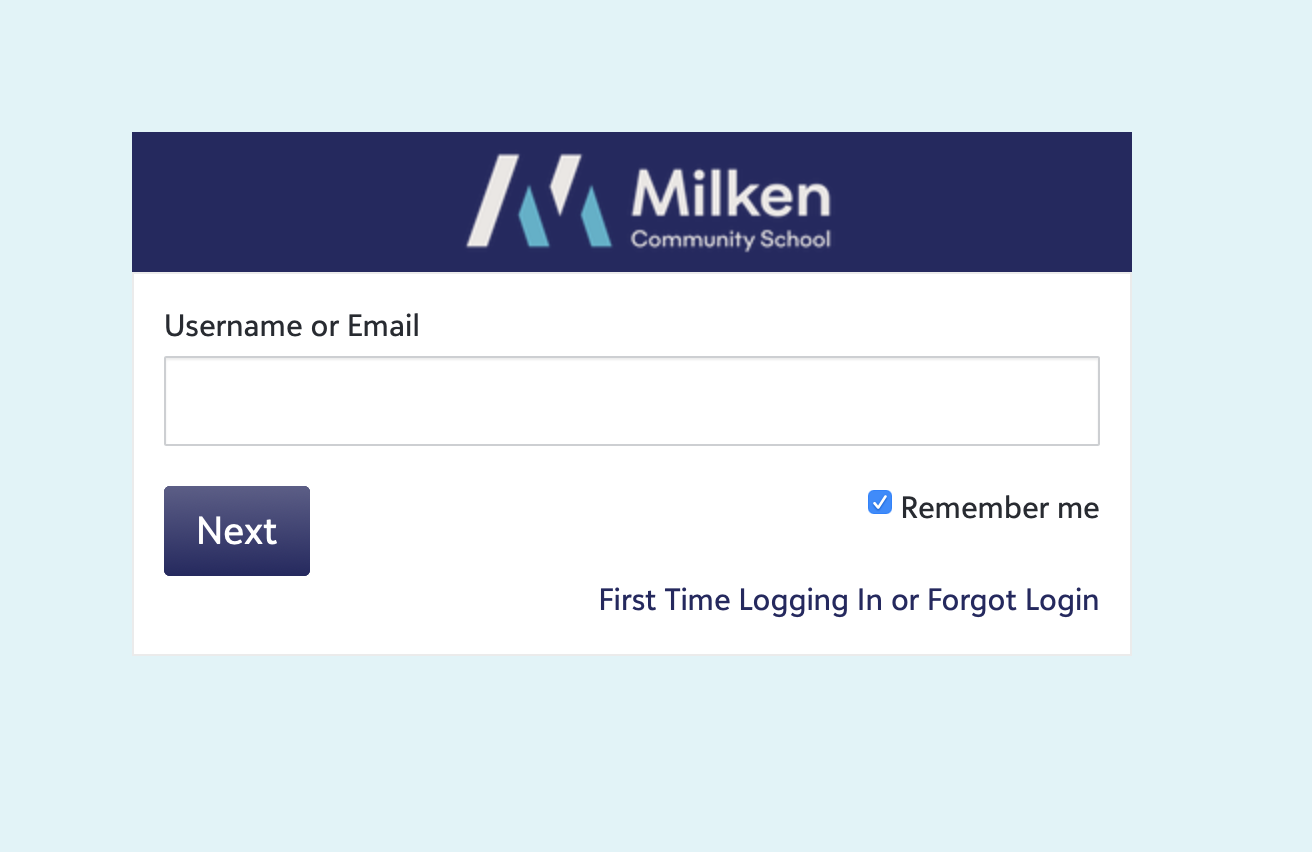 MyMilken Welcome Page